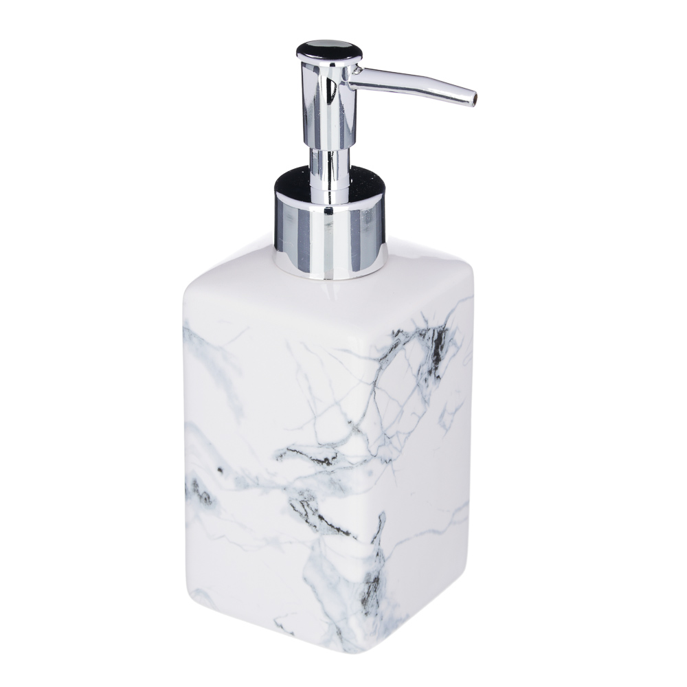 "VETTA Дозатор для жидкого мыла, ""Мрамор"", керамика, 2 цвета"