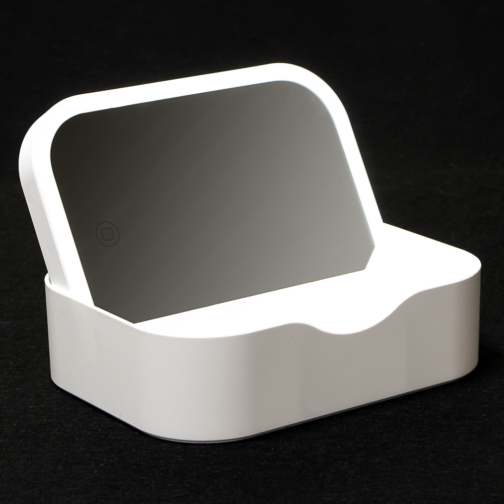 Зеркало настольное с LED-подсветкой ЮниLook, 18,5х13,8х5 см, 2 цвета