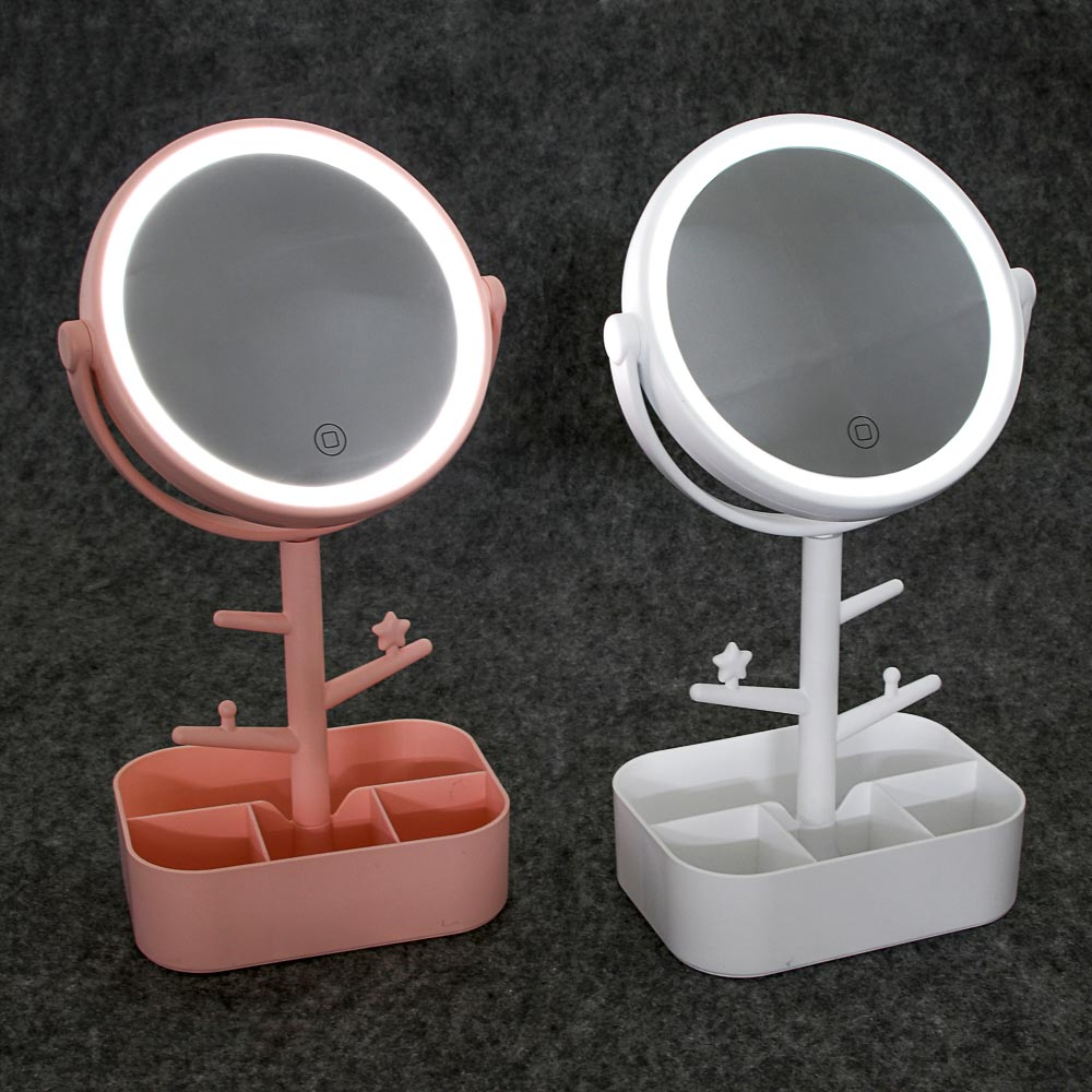 Зеркало настольное с LED-подсветкой ЮниLook, 32х17 см, 2 цвета