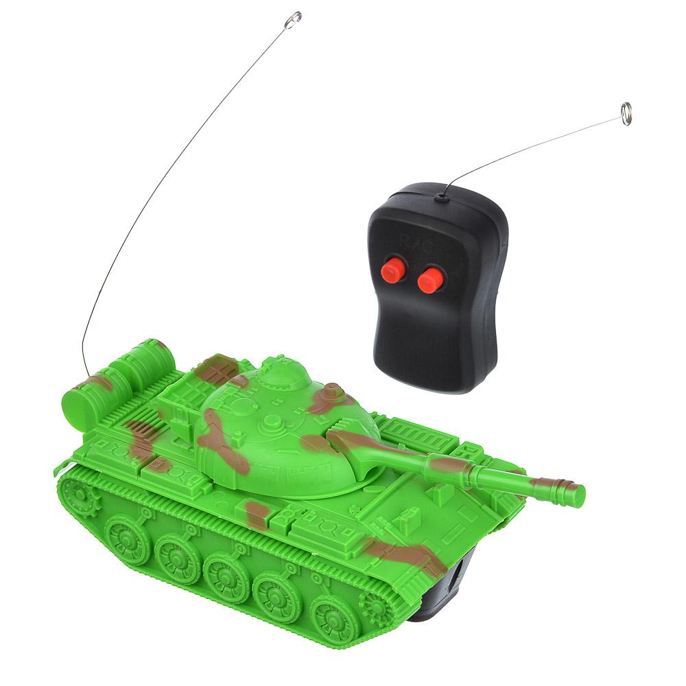 ИГРОЛЕНД Танк на радиоуправлении, 1-канальный ,5 АА , пластик, 18,5х8х6,8 см