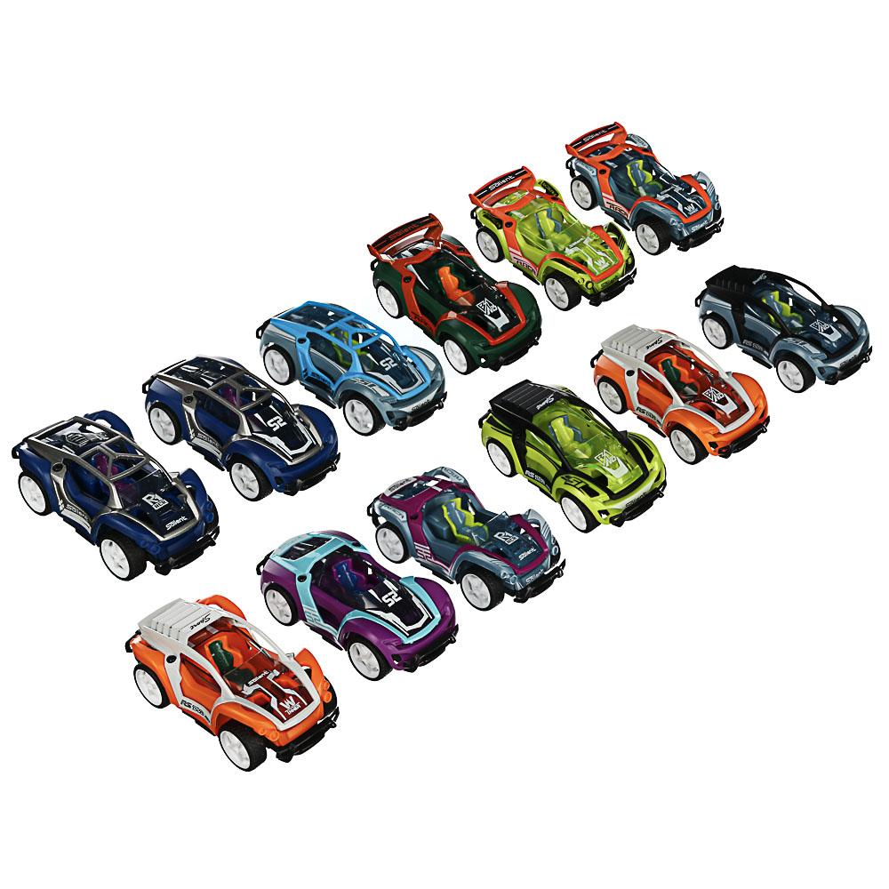 ИГРОЛЕНД Машинка-конструктор с отверткой, 10 дет., инерция, металл, 17,5х9,5х10см, 12 дизайнов