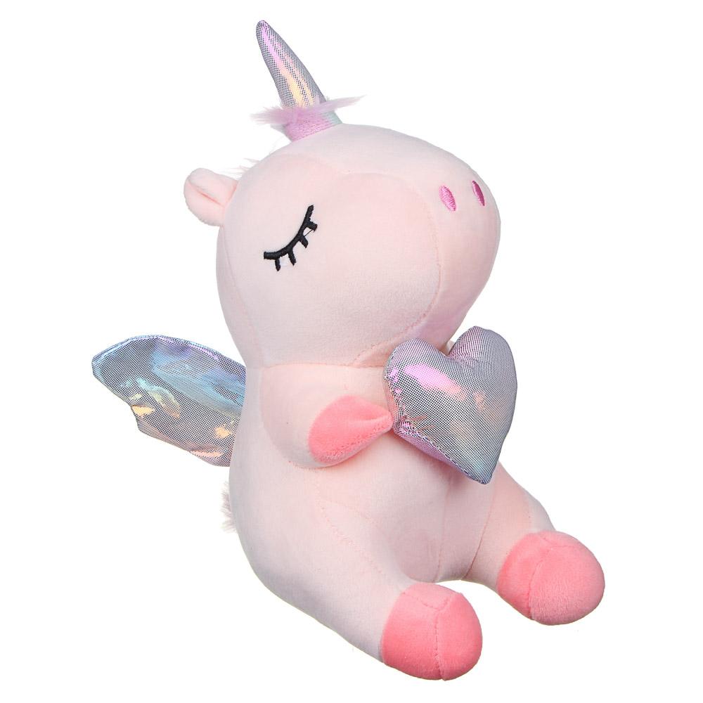 МЕШОК ПОДАРКОВ Игрушка мягкая в виде единорога с крыльями, 25см, полиэстер, 2-4 цвета