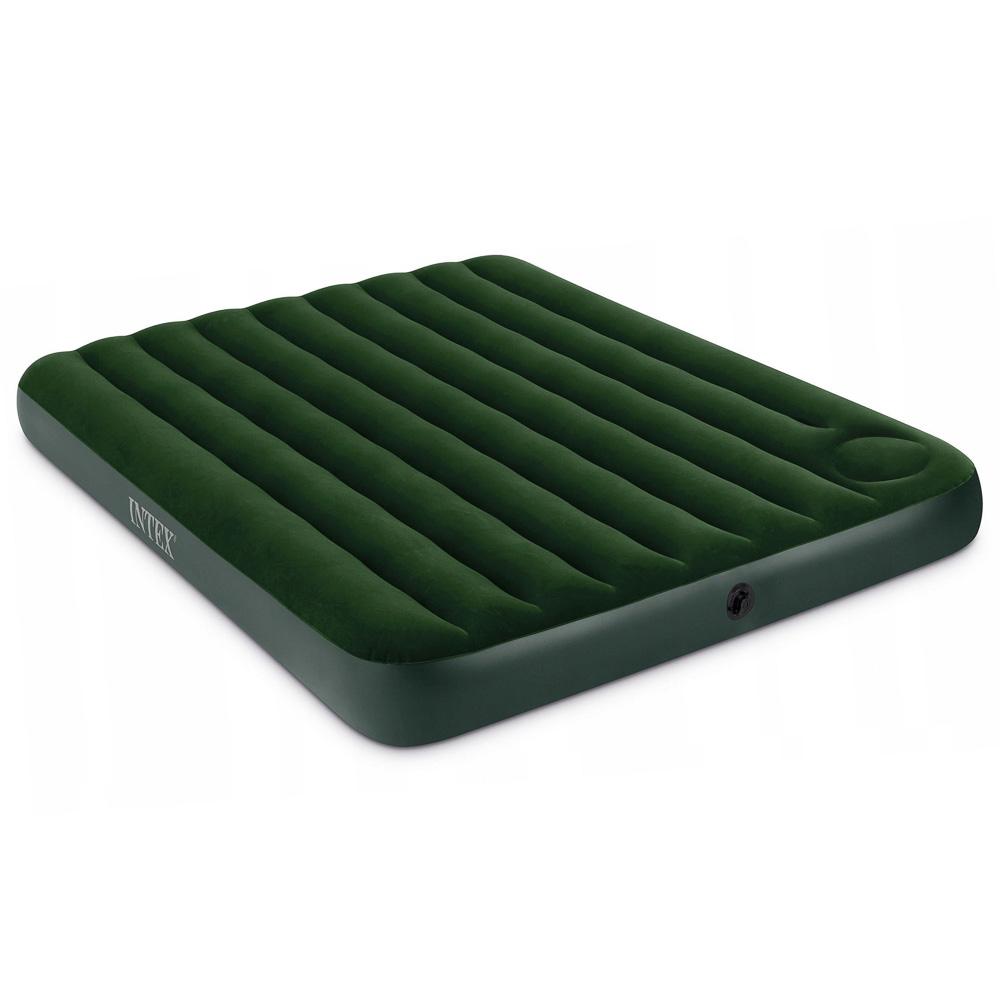 INTEX Кровать надувная DOWNY BED(fiber-tech), 152x203x25см, ПВХ, 64109