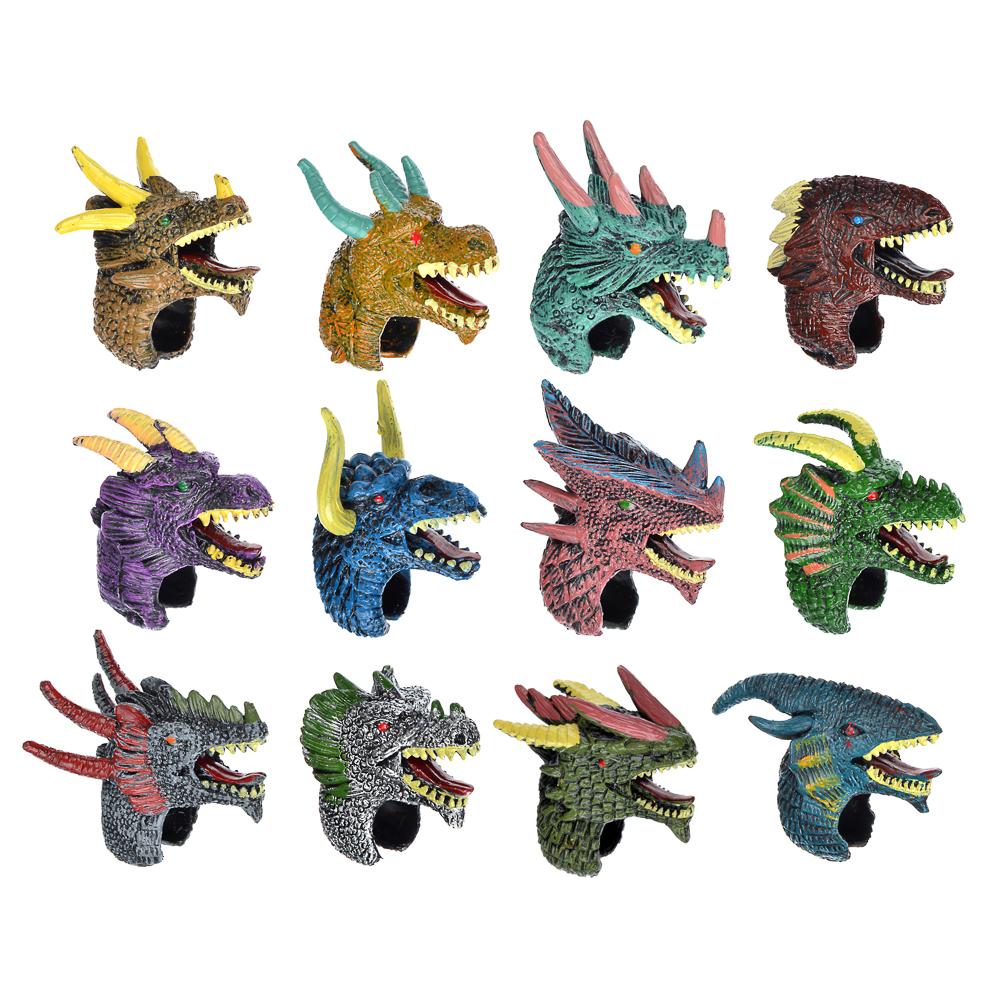 """ИГРОЛЕНД Игровое кольцо """"Боевые драконы"""", пластик, 3,5х4,5х2,5см, 12 дизайнов"""