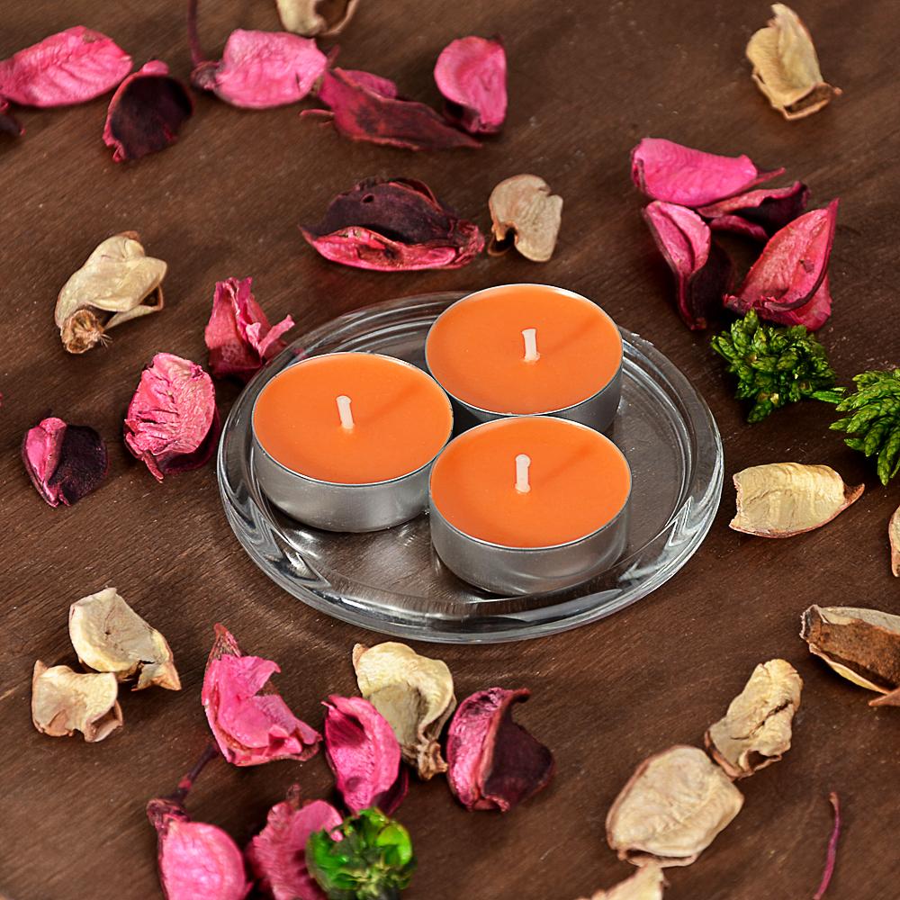 LADECOR Набор свечей чайных ароматических, 6шт, парафин, 5 ароматов