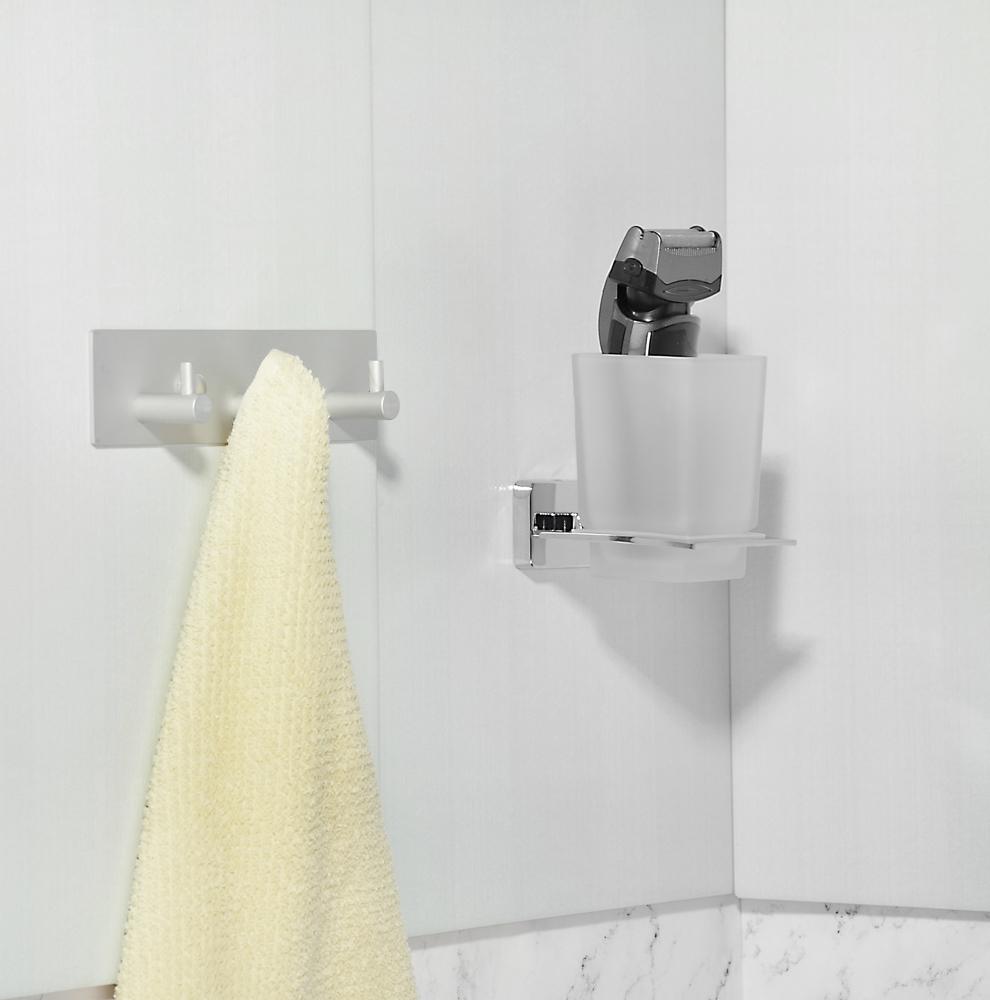 SonWelle Планка для ванной, 3 крючка, 18см, хром, металл