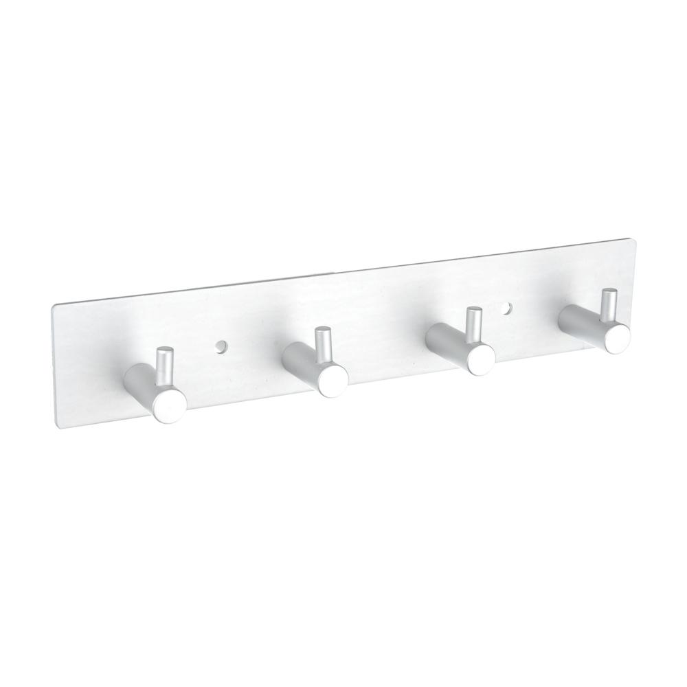 SonWelle Планка для ванной, 4 крючка, 24см, хром, металл