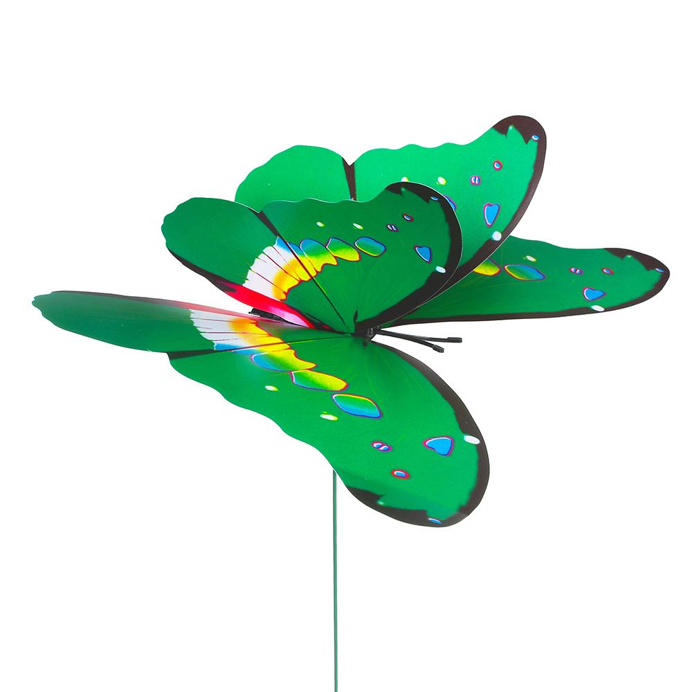 """INBLOOM Фигурка на стержне 40см """"Экзотическая бабочка"""", 21х15см, ПВХ, металл"""
