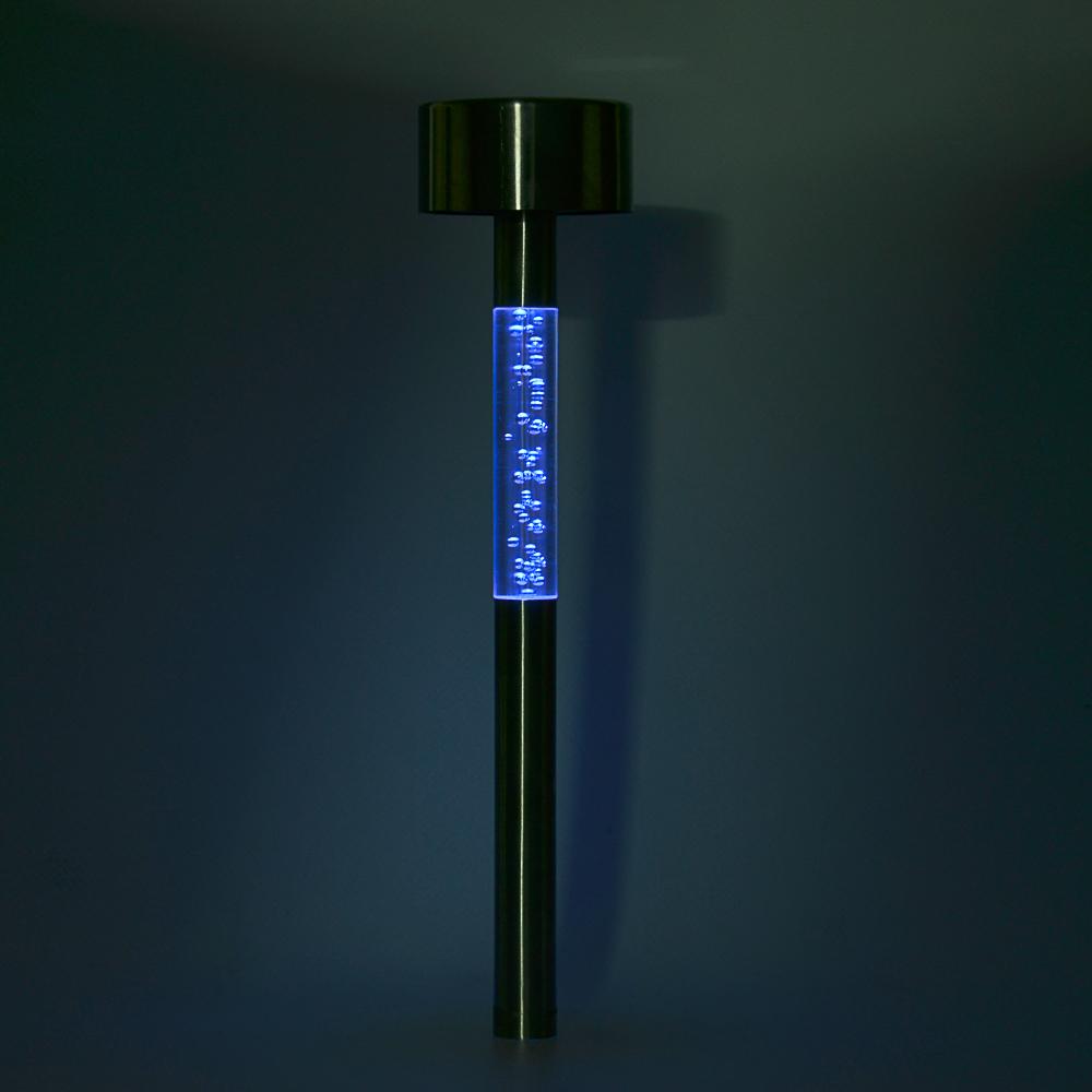 INBLOOM Фонарь садовый на солнечной батарее, 5,5x29см, 1LED, мульти, пластик, акрил, нерж.сталь