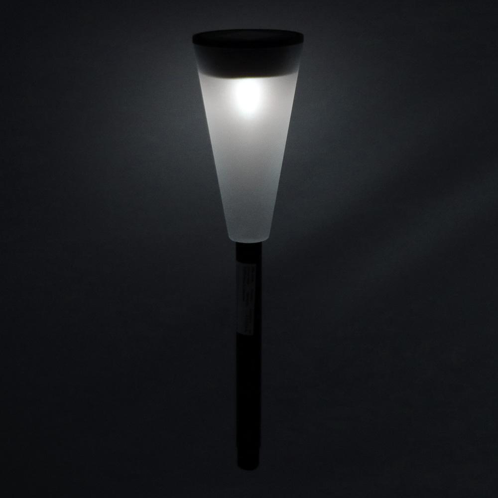 INBLOOM Фонарь садовый на солнечной батарее, 6,7х27,8см, 1LED,белый, пластик