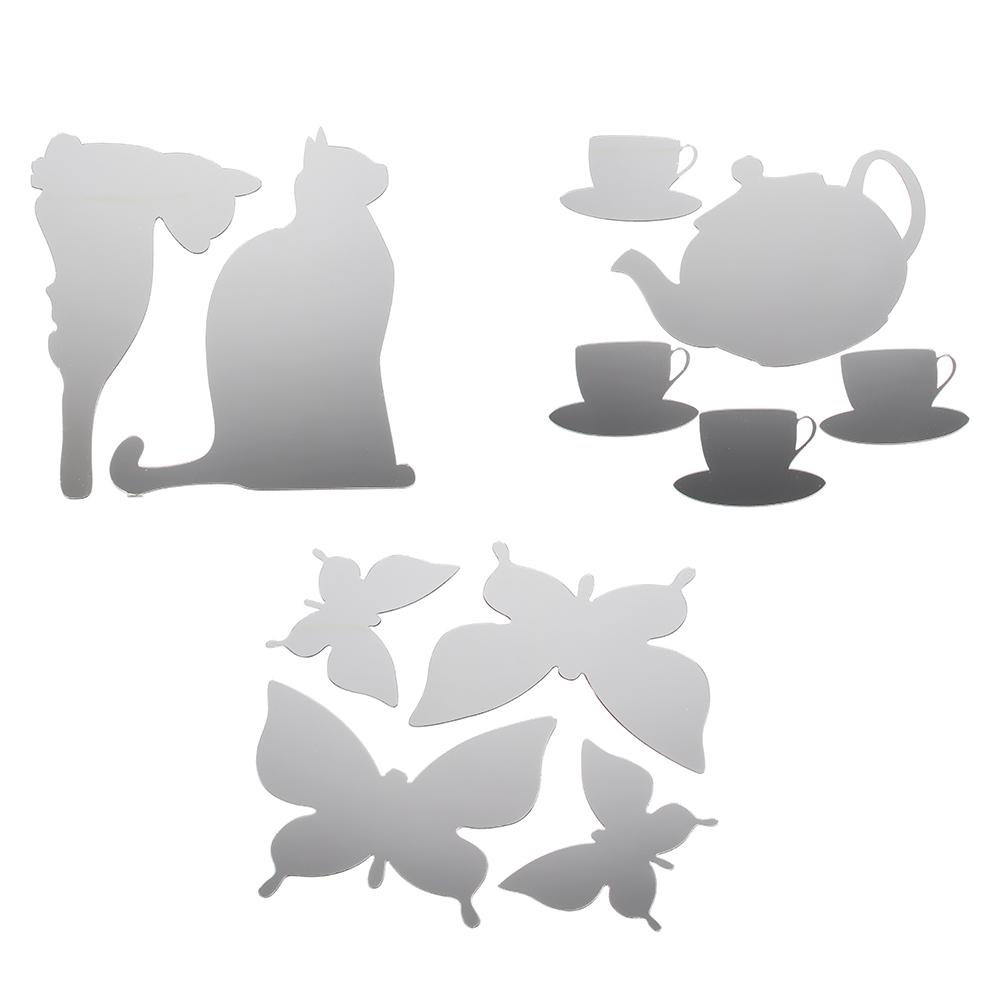 "VETTA Набор наклеек интерьерных ""Зеркальные"", 30х30 см, картон, 3 дизайна"