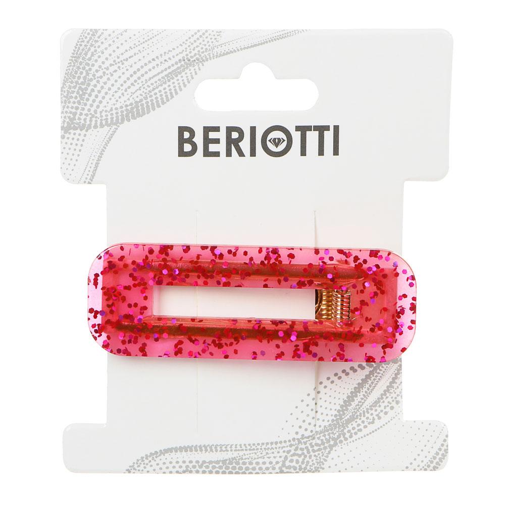 Зажим для волос BERIOTTI, 6,5/7 см, 2 дизайна