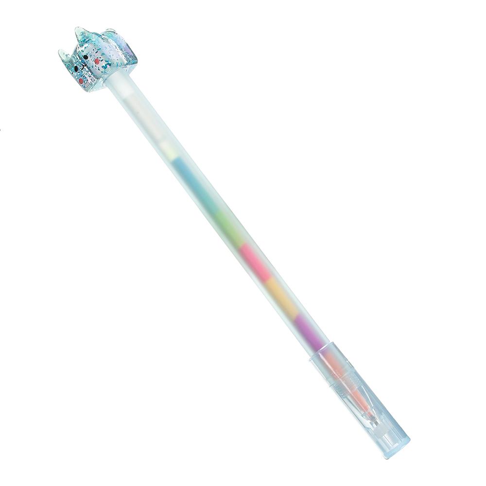 Ручка гел. с многоцветным стержнем, наконечник в форме котика, 17,5см, 0,5мм, пластик, 4 дизайна