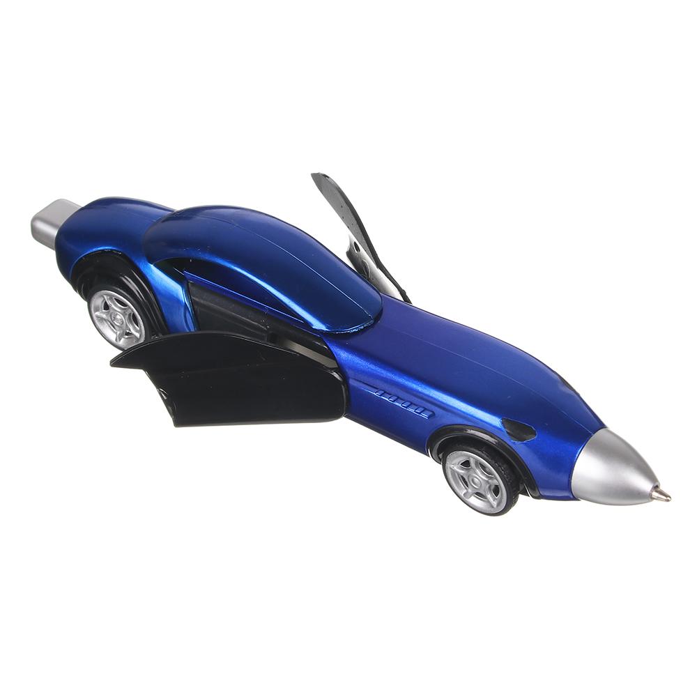 Ручка шариковая синяя в форме машинки, 13,3см, автозавод, открываются двери, 4 цвета корпуса