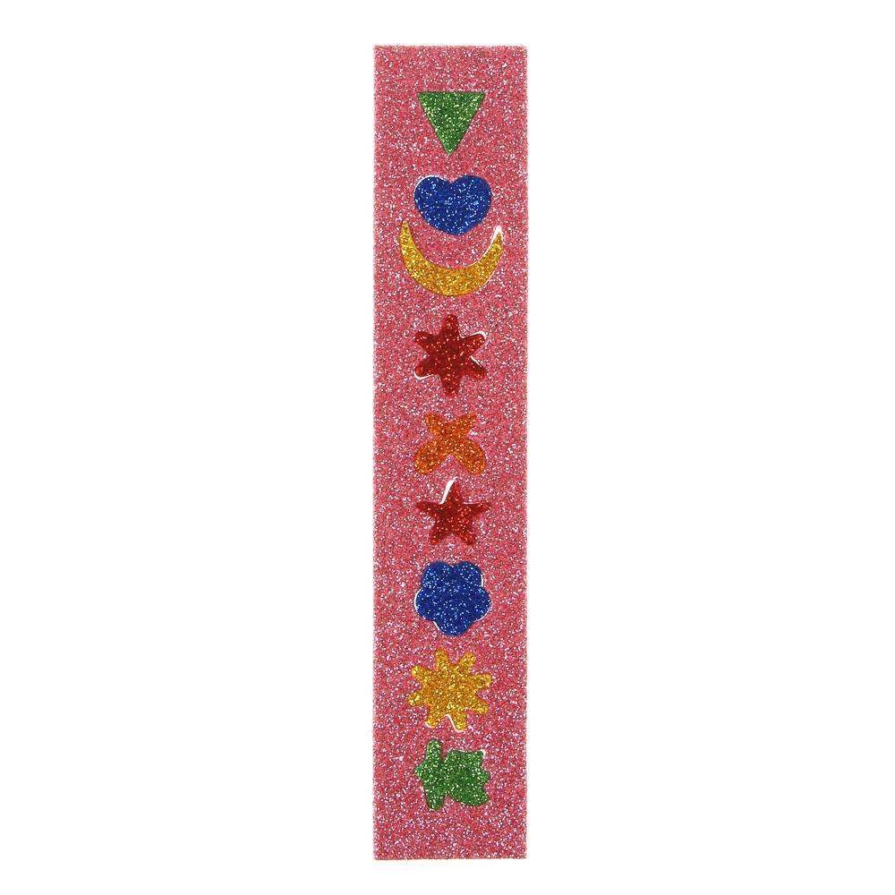 LADECOR Наклейка декоративная с глиттером, 12х22 см, 6 цветов