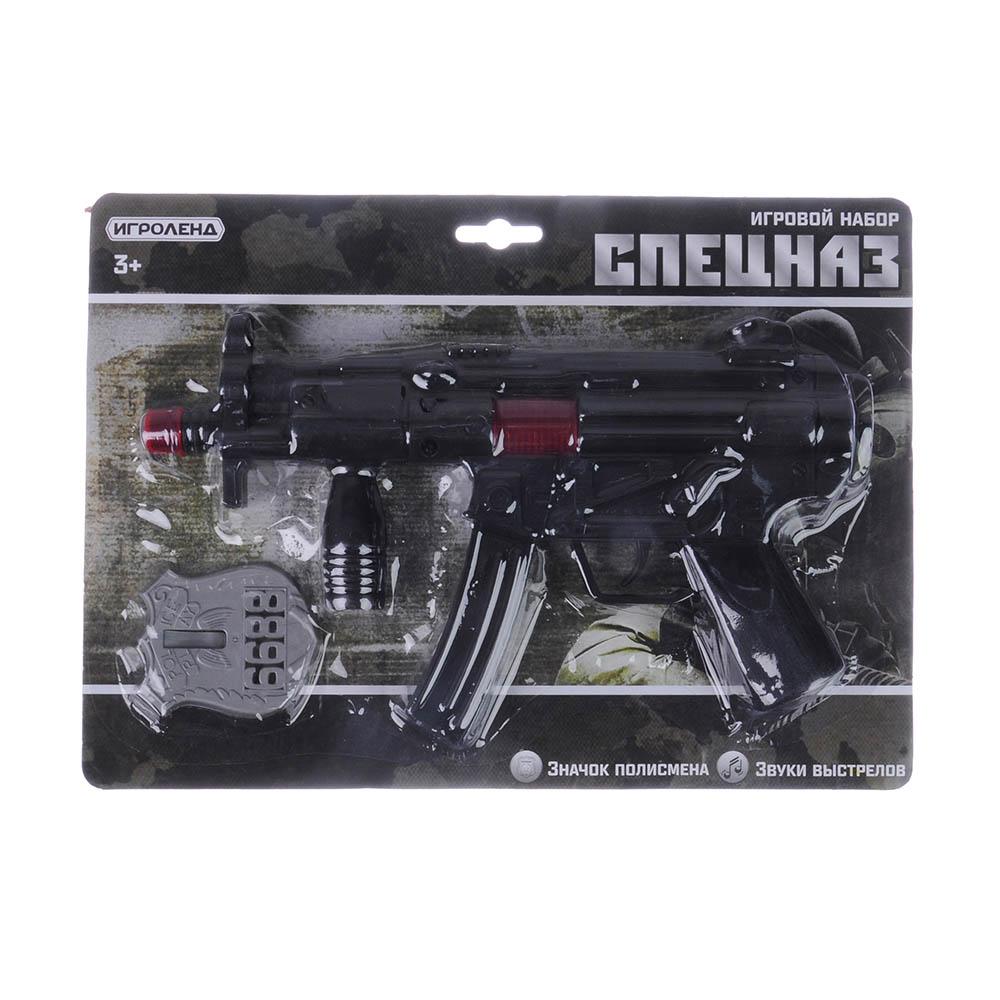 ИГРОЛЕНД Оружие-трещотка, пластик, 2-4 пр, 21х29х4см, 2 дизайна