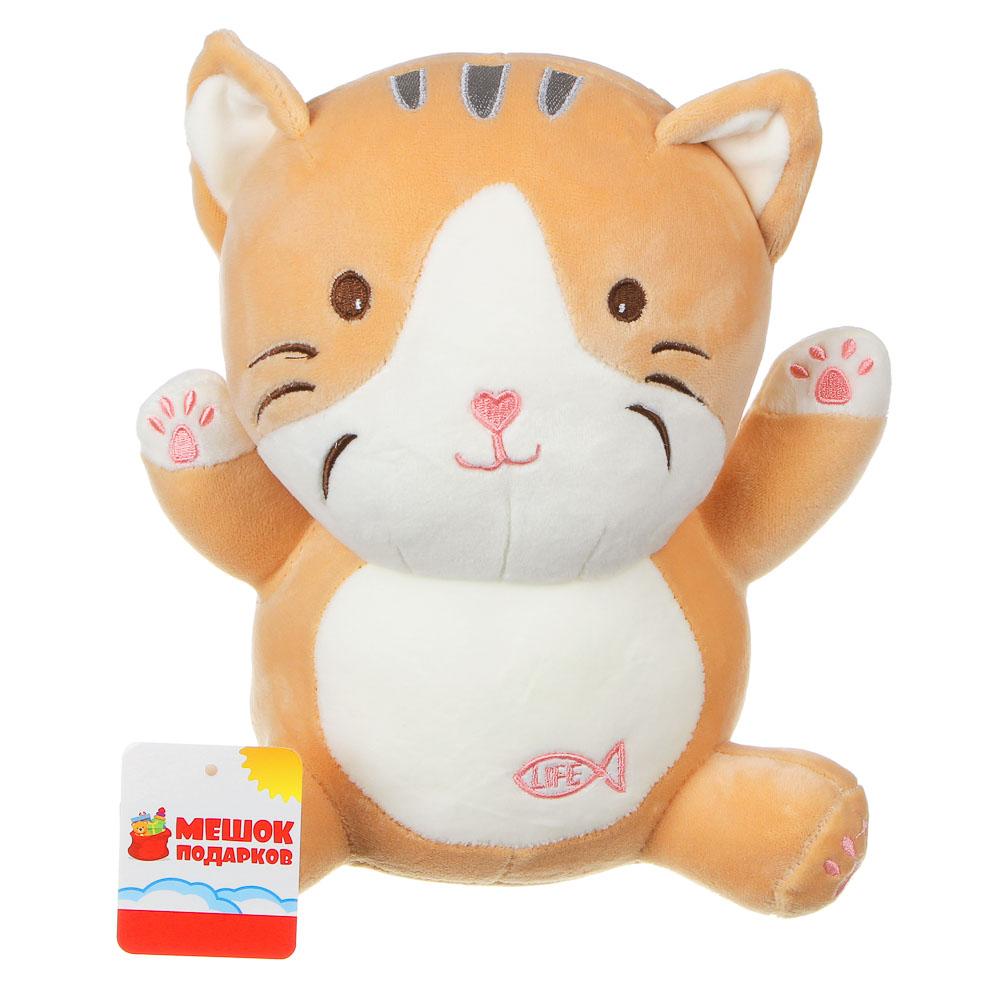 МЕШОК ПОДАРКОВ Игрушка мягкая в виде кота, 25см, полиэстер, 2 цвета