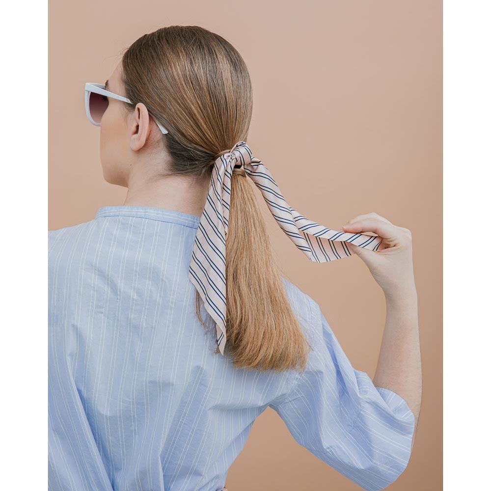 Резинка для волос с лентой, полиэстер, d=5см, 2 дизайна, РВ2019-2