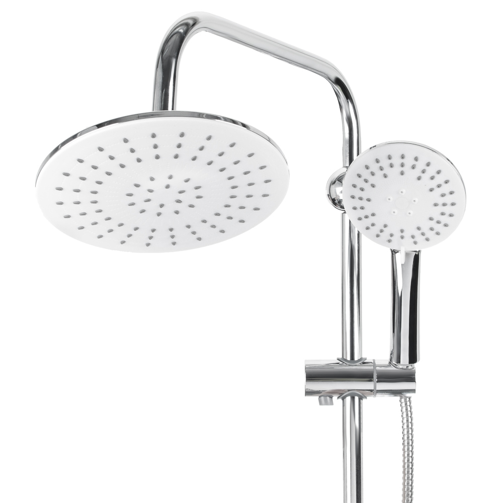 Душевая система SonWelle, верхний душ 1 режим, ручной душ 3 режима, хром/белый