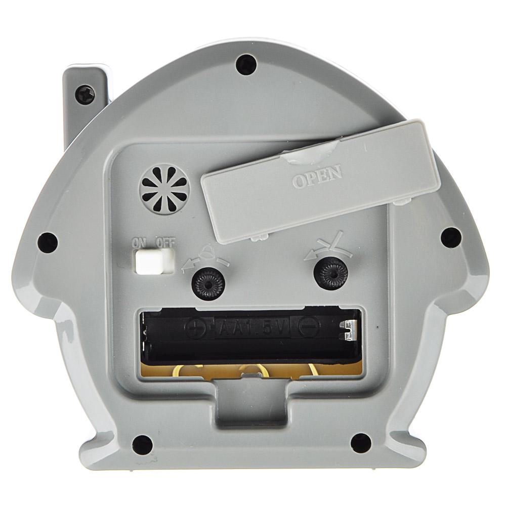 LADECOR CHRONO Будильник, пластик, 11,7х10,5х4,5см, в форме домика, 4 цвета