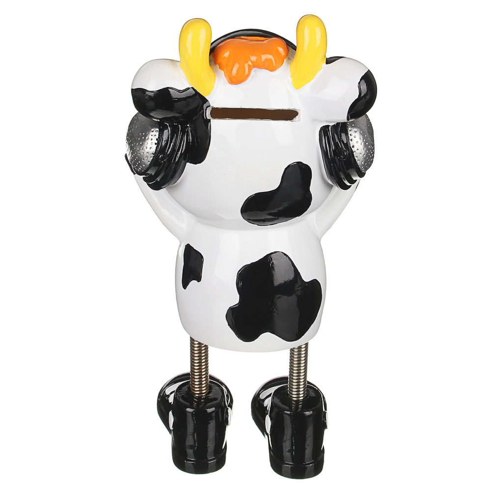 Копилка в виде коровки, полистоун, 10-21 см, 2 дизайна