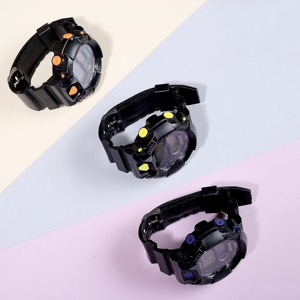BERIOTTI Часы электронные, 4-6 цветов, 2xAG-10, ЧН2020-8