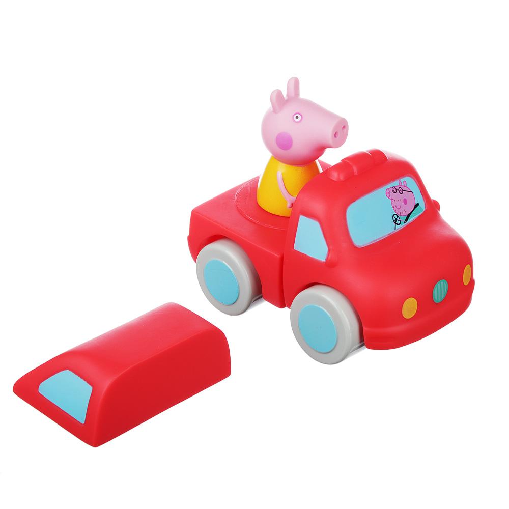 "РОСМЭН Машинка-конструктор ""Свинка Пеппа"" пластик, 11x9x8см, арт.35167"