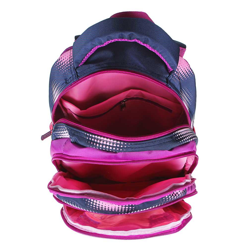 Флори киттен Рюкзак школьный, 40х27х20см, ПЭ, 3 отд, 2 карм, уплотненная спинка и лямки