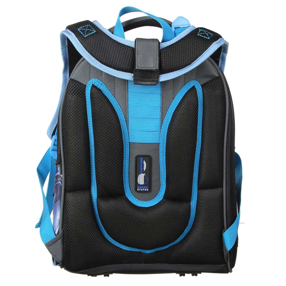 Голкипер Рюкзак школьный жесткий, 37x28x16см, ПЭ, 2отд, 1карм, эргон.спинка, лямки регул.по росту