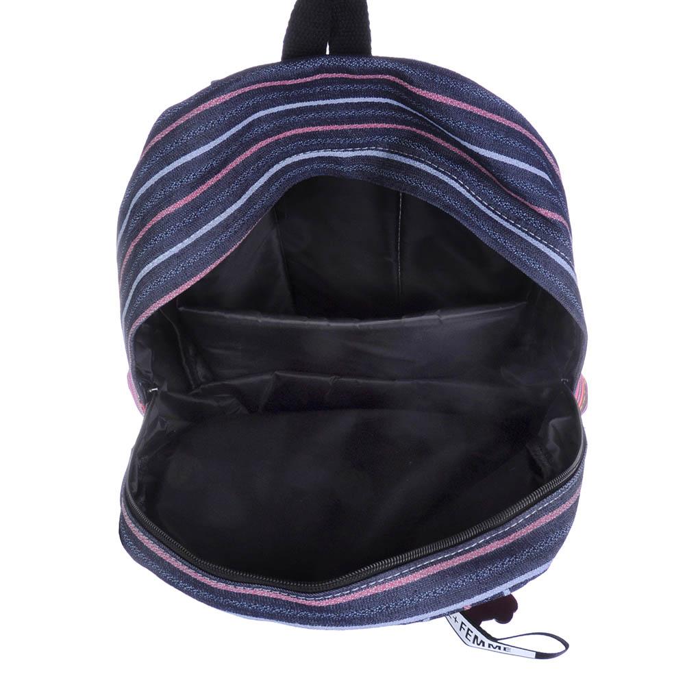 Рюкзак подростковый, 43x30x14см, 1 отделение, 1 карман, брелок, принт на кармане, 3 дизайна