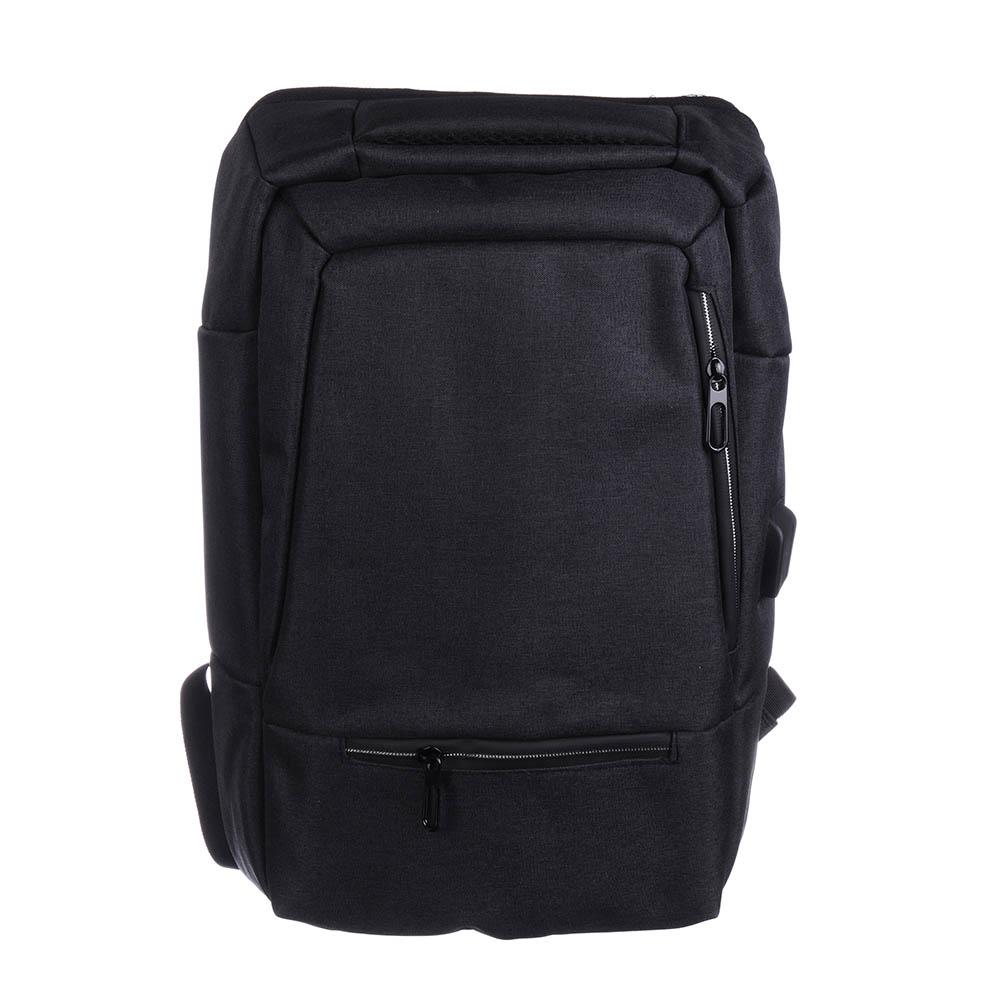 Рюкзак подростковый, 44x31x10см, 1 отд, 4 карм, полиэстер, спинка с эрг.элементами, темно-серый
