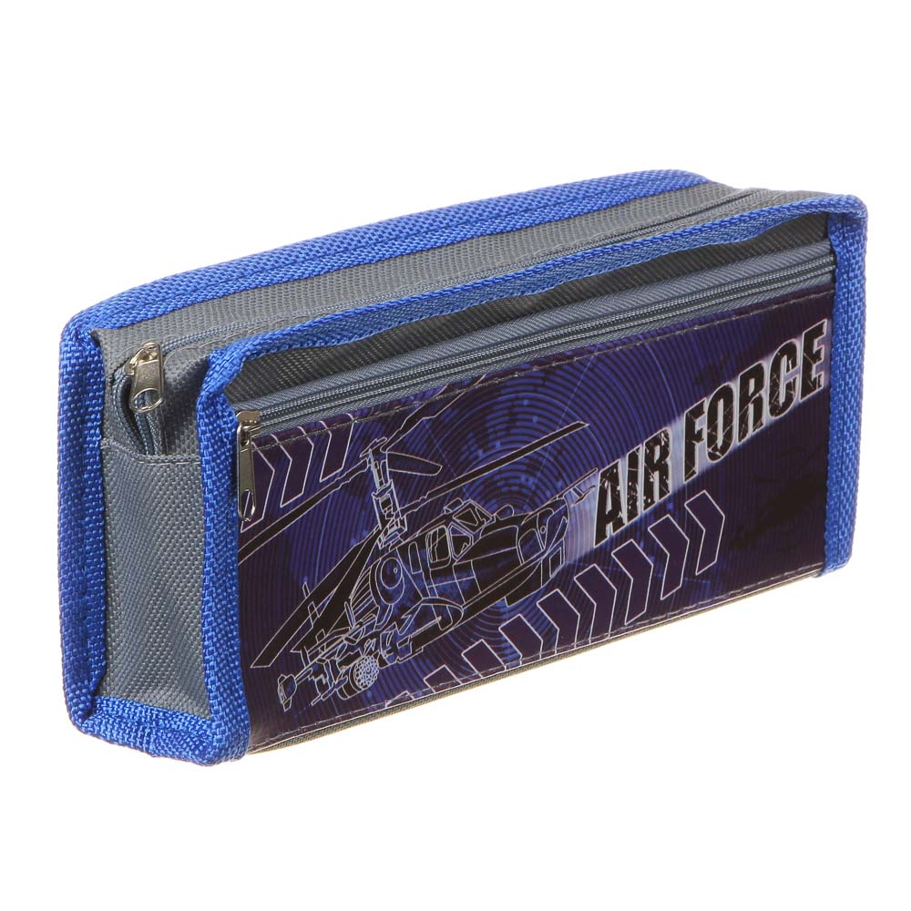 Пауэр ОФ Эйрфорс Пенал мягкий прямоугольный, 21х9х4,5см, ПЭ, 1 карман, вставка из иск.кожи с печатью