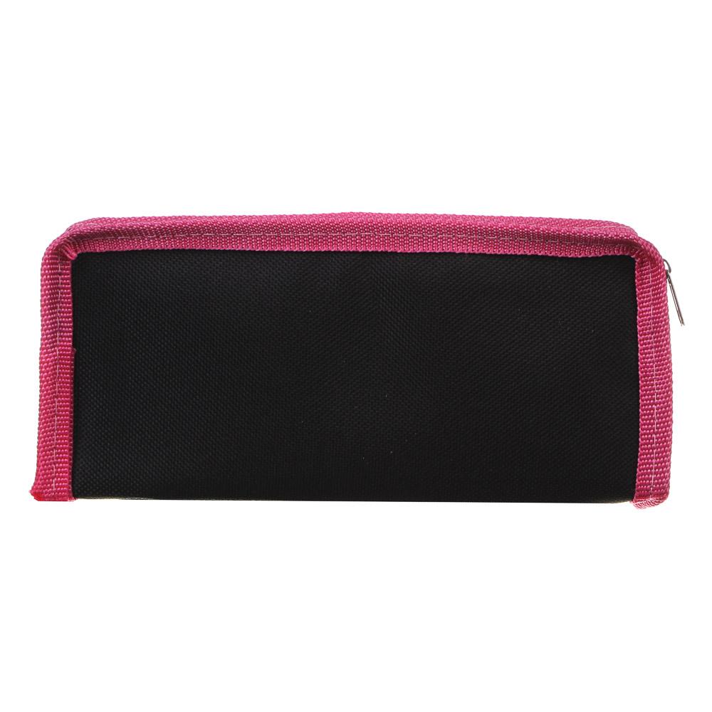 Миракл Пэрис Пенал мягкий прямоугольный, 21х9х4,5см, ПЭ, 1 карман, вставка из иск.кожи с печатью