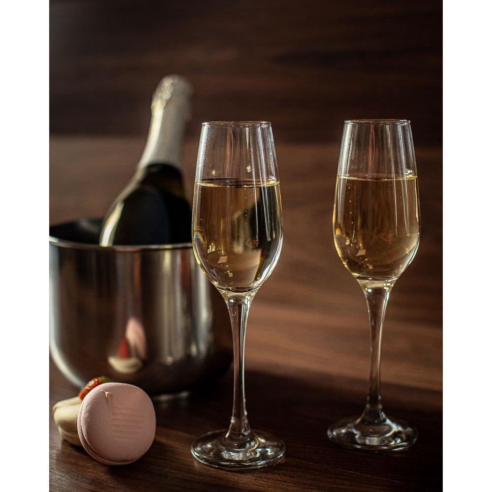 "Pasabahce набор бокалов для шампанского 2 шт, 210 мл, ""Амбер"""
