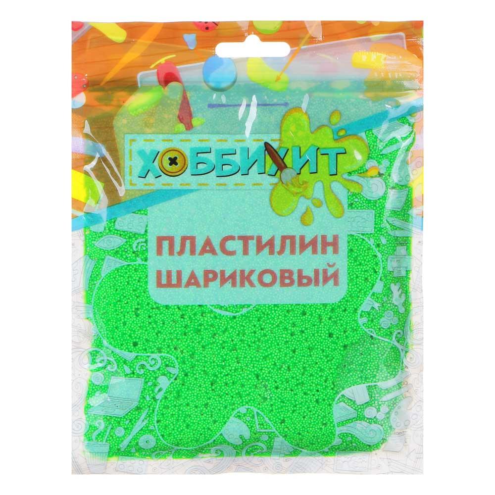 ХОББИХИТ Пластилин шариковый, полистирол, 19х14х1см, 55-60гр, 6-10 цветов