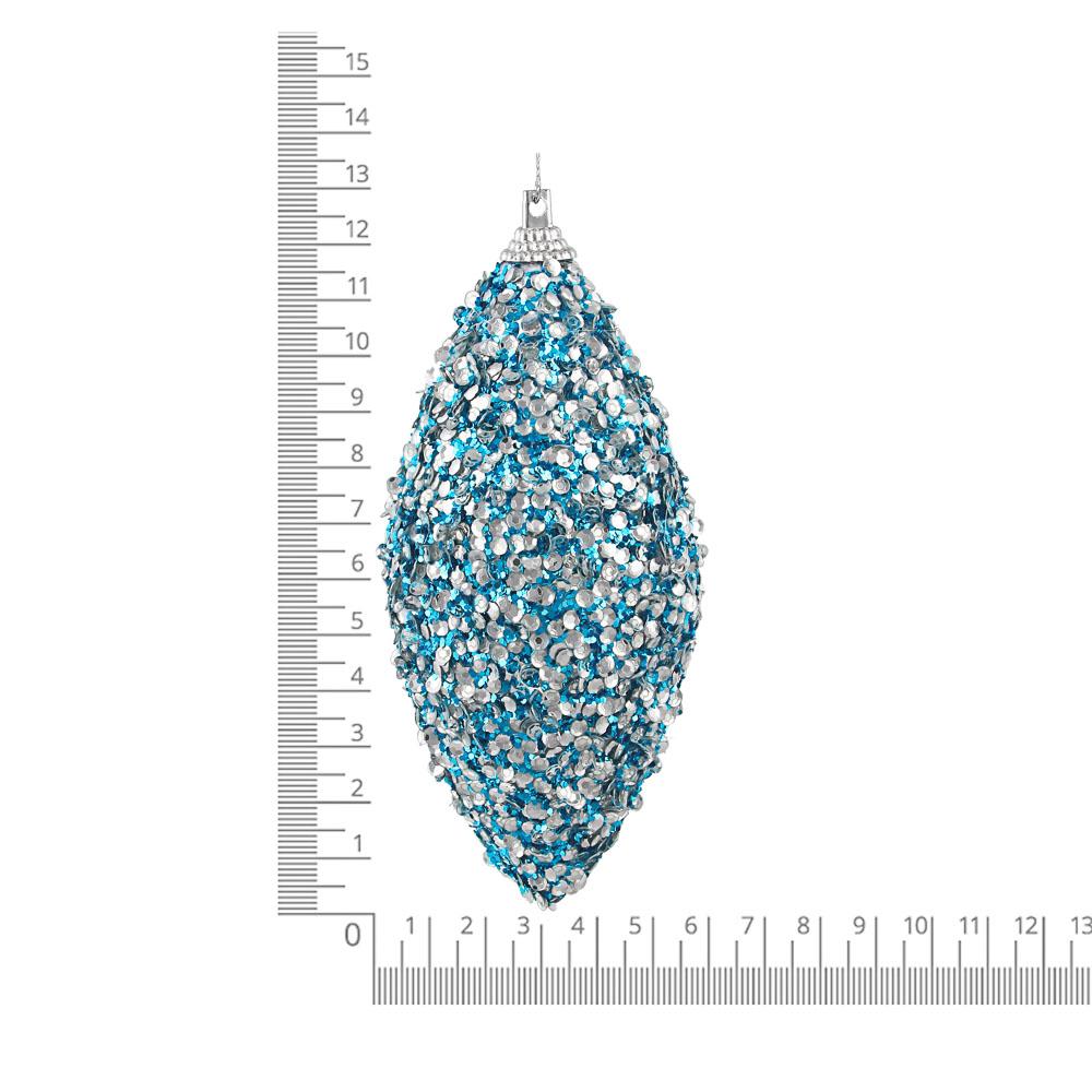 СНОУ БУМ Подвеска сосулька, 6х12 см, пластик, текстиль, 2 дизайна