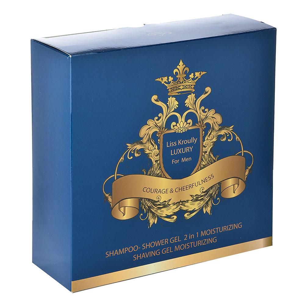 Набор подар.муж.Liss Kroully-1903/1904,2пр:шампунь д.душа 260мл,крем п/бритья100мл/гель д.бритья100