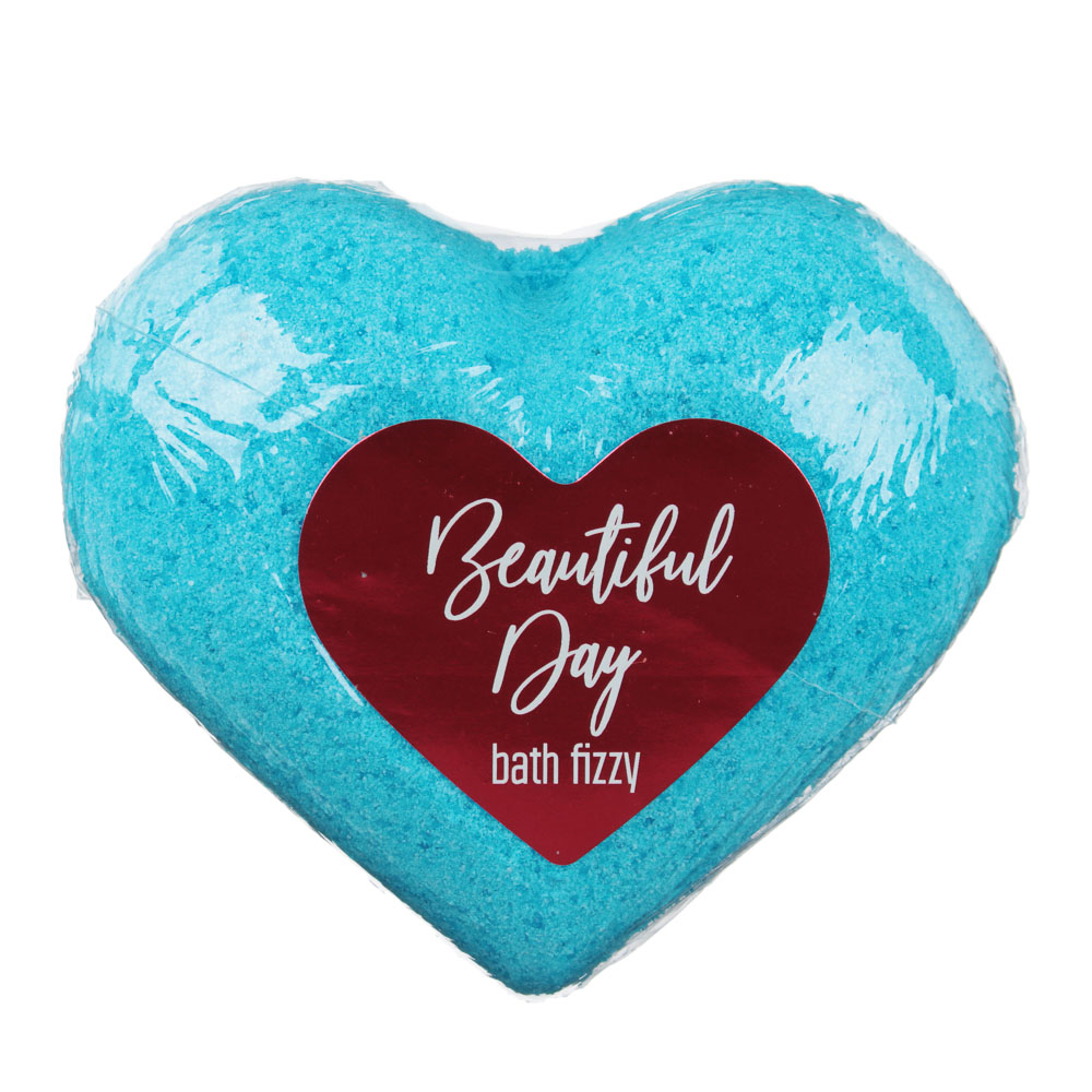 Соль для ванн шипучая With love / Beautifull day, 130г, в форме сердца