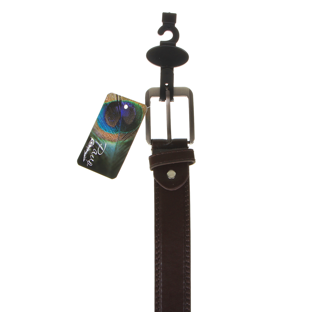 PAVO Ремень мужской, ПУ, сплав, ширина 3,3см, длина 120/130см, 2 цвета, РМ20-2