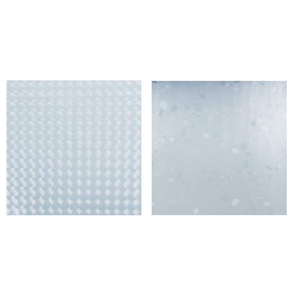 Пленка на стекло статическая в рулоне, 2 дизайна, 45х200см, ПВХ