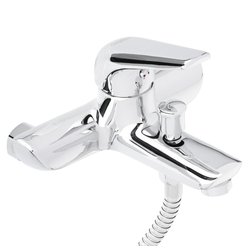 СоюзКран Смеситель для ванны SK1087, короткий излив, с душ набором, керам. картридж 35мм, цинк