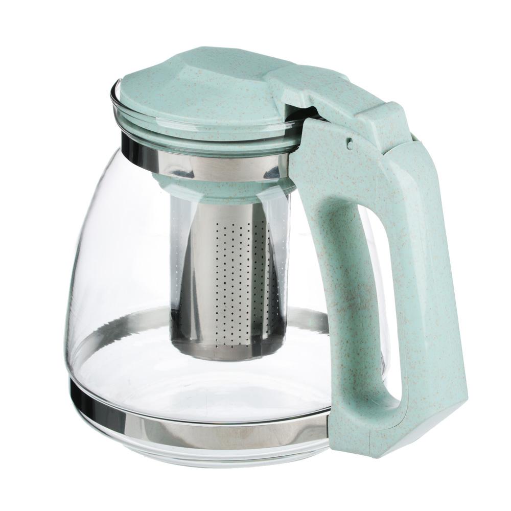 VETTA Чайник заварочный 1500мл, ситечко из нержавеющей стали, стекло, полипропилен, 2 цвета
