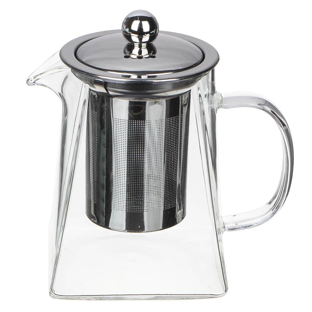 VETTA Чайник заварочный 500мл, ситечко из нержавеющей стали, стекло, пластик
