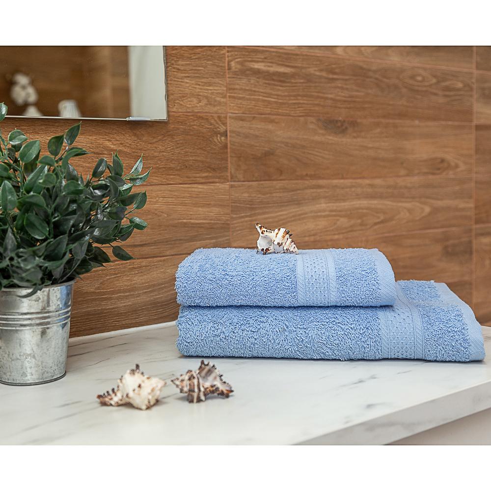 PROVANCE Наоми Полотенце махровое, 100% хлопок, 70х130см, 360гр/м, нежно-голубой