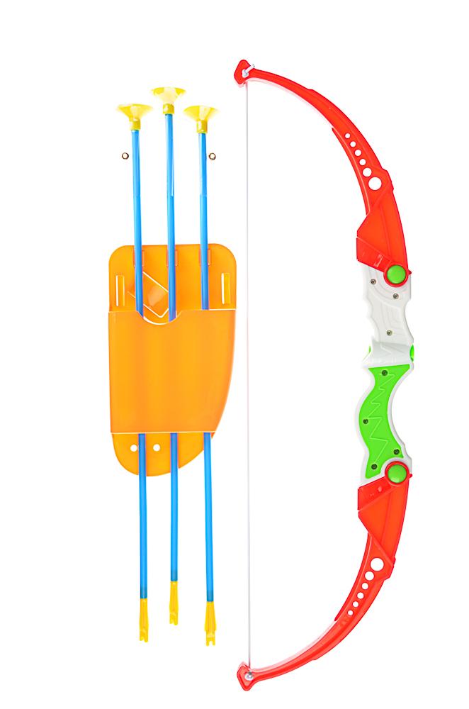 ИГРОЛЕНД Набор игровой Лук со стрелами, 5пр., пластик, 19,5х55,5х3,5см