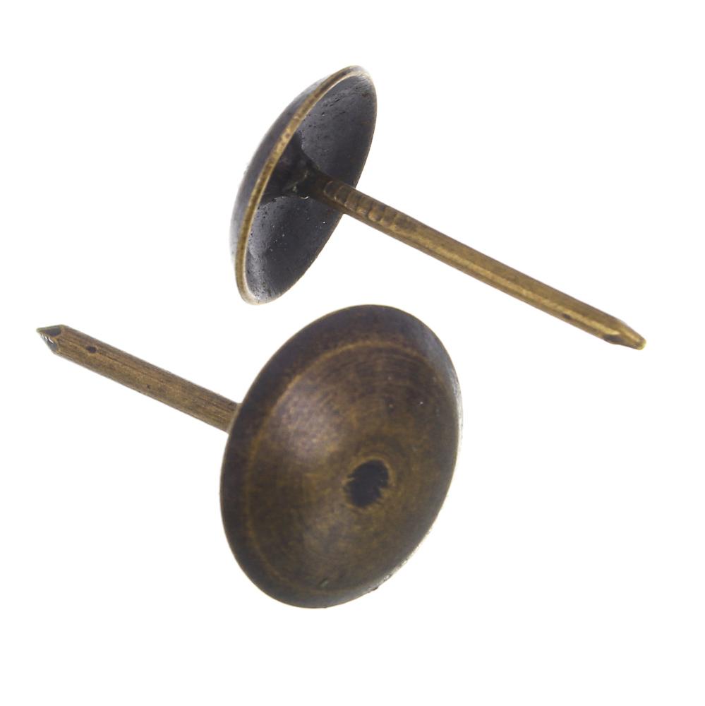 Гвозди мебельные усиленные 100гр, 167шт, бронза, металл