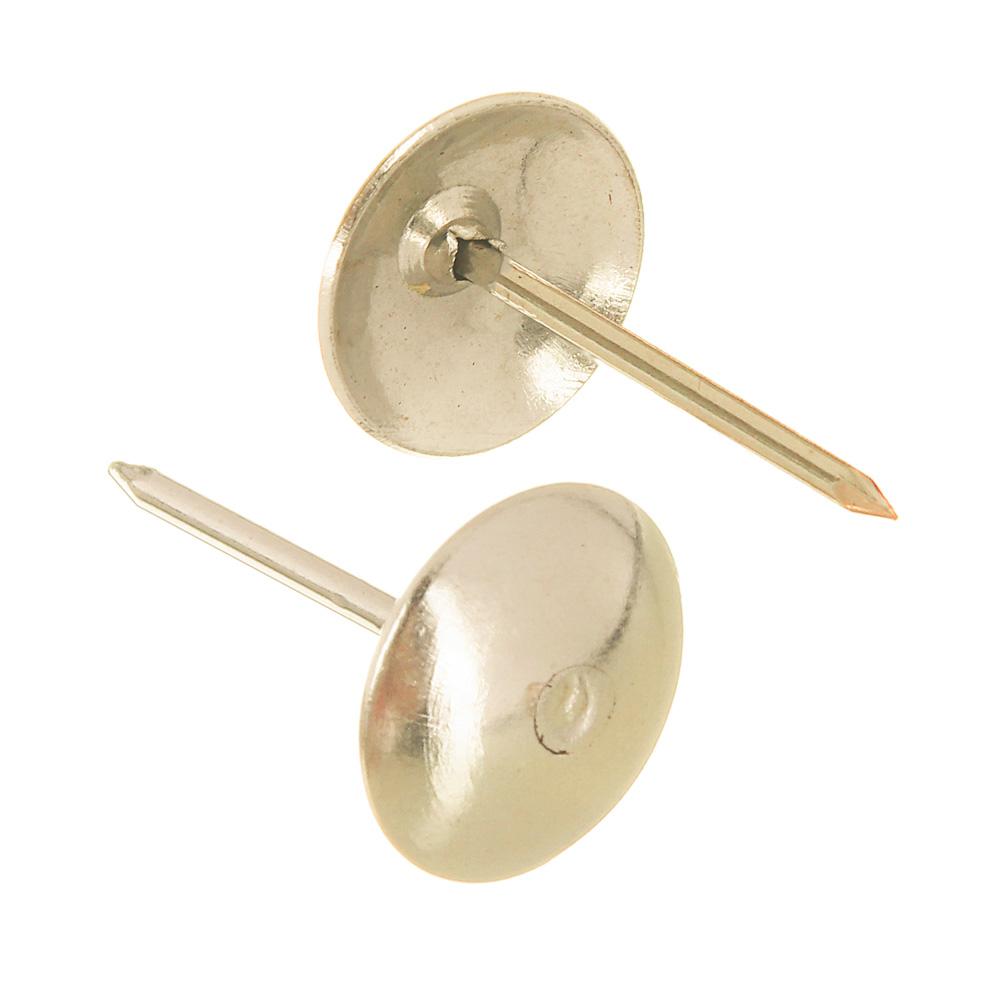 Гвозди мебельные усиленные 100гр, 167шт, золото, металл