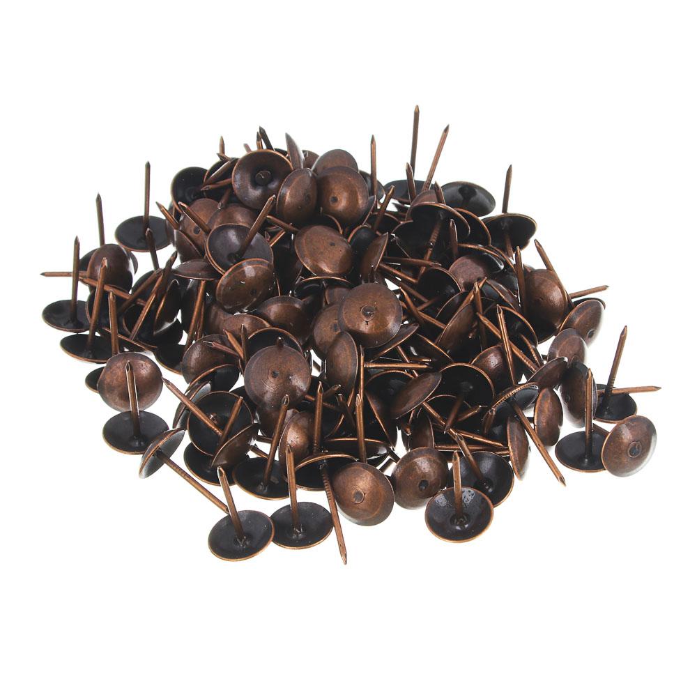 Гвозди мебельные усиленные 100гр, 167шт, медь, металл