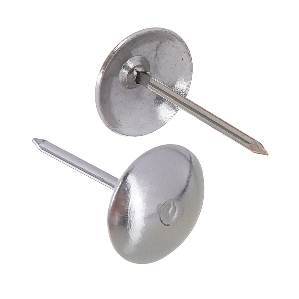 Гвозди мебельные усиленные 100гр, 167шт, хром, металл