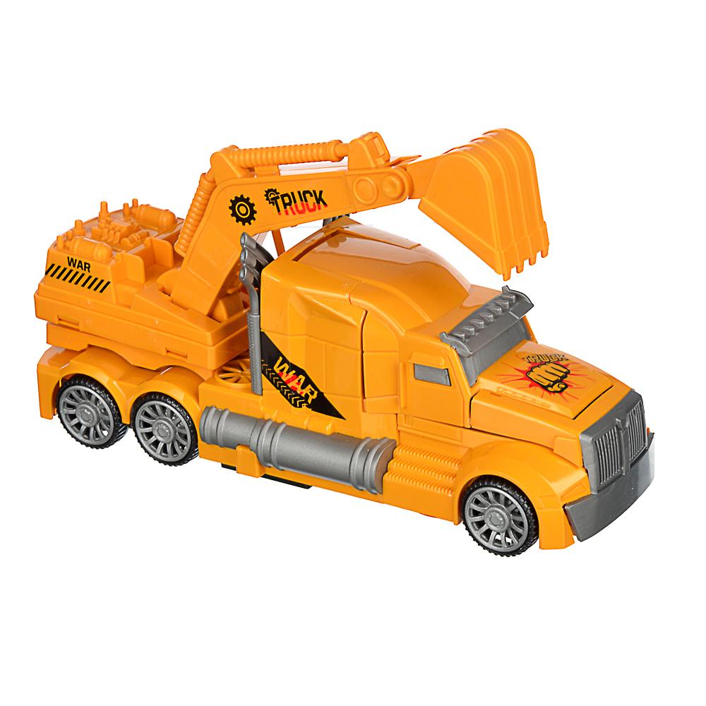 ИГРОЛЕНД Машинка авто-трансформация, свет, звук, движение, 2АА, пластик, 20,2х7,5х11,5см